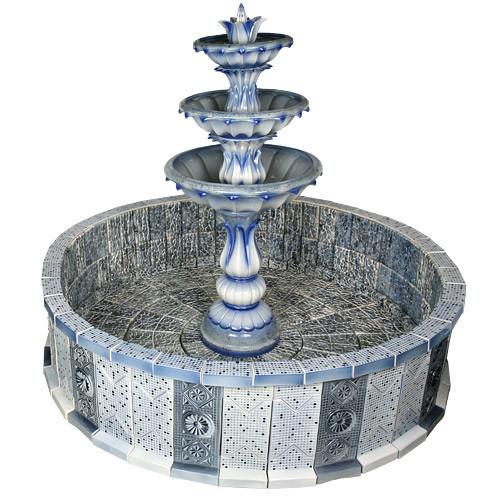 Напольный фонтан «Лотос в бассейне»