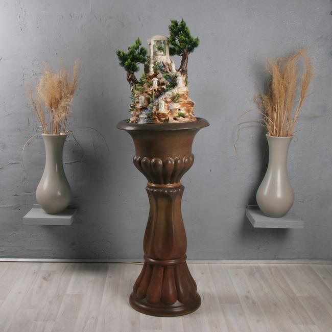 Напольный фонтан «Миф классика коричневый бархат»