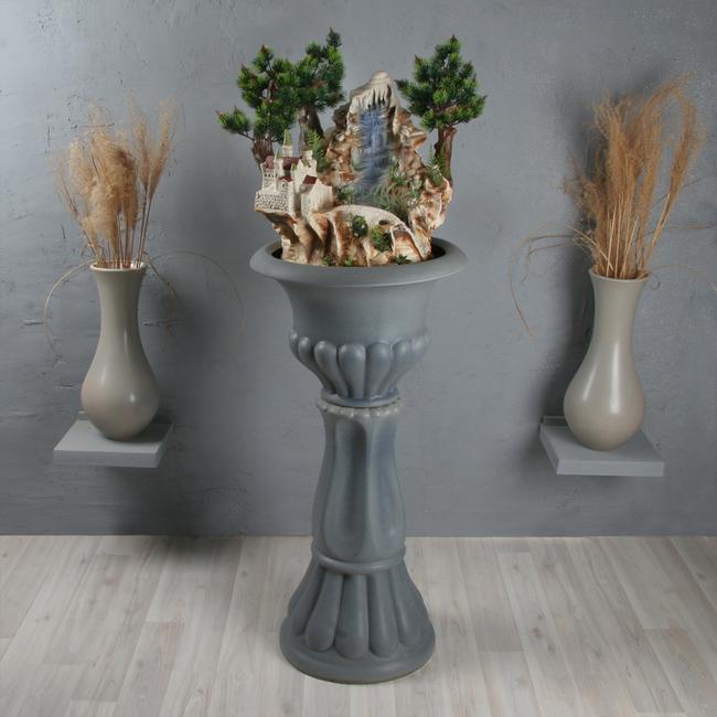 Напольный фонтан «Легенда классика синий опал»